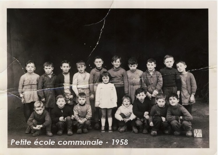Ecole communale - petite école 1958