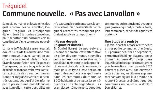 Tréguidel : commune nouvelle