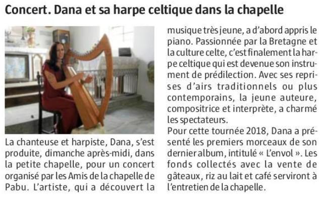 Dana en concert à Tréguidel