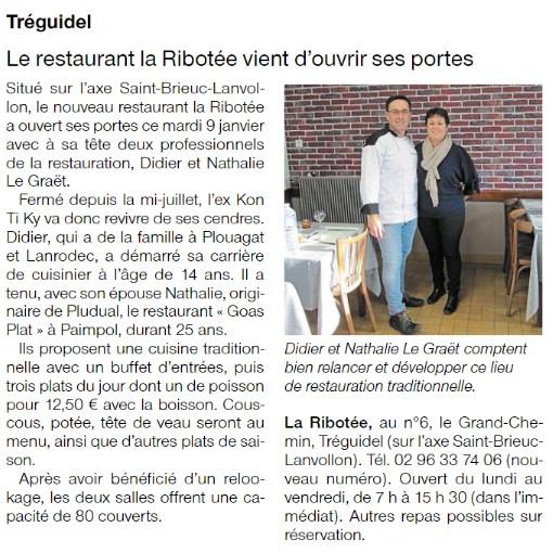Restaurant La Ribotée – Tréguidel