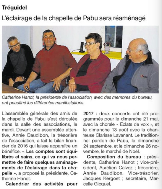 Les Amis de la Chapelle de Pabu – Tréguidel