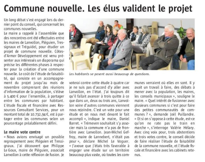 Commune nouvelle – Tréguidel