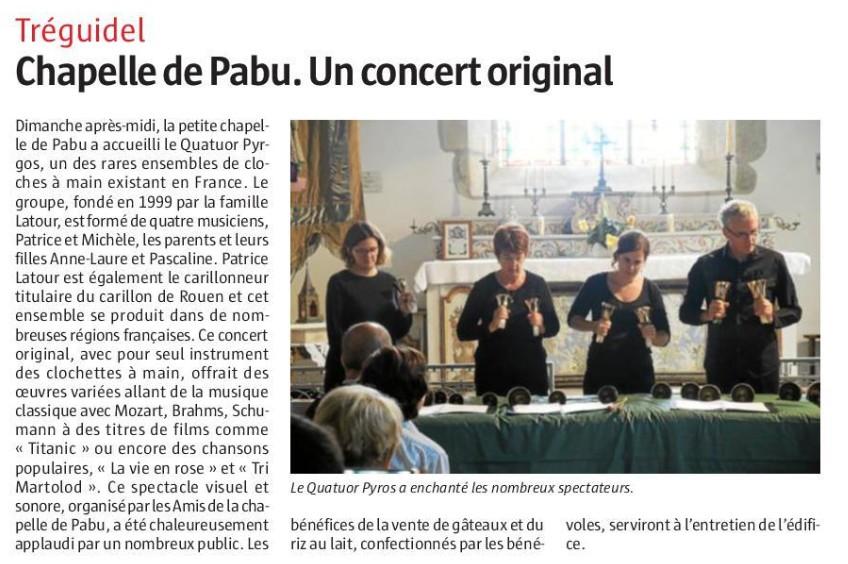Concert à la Chapelle de Pabu